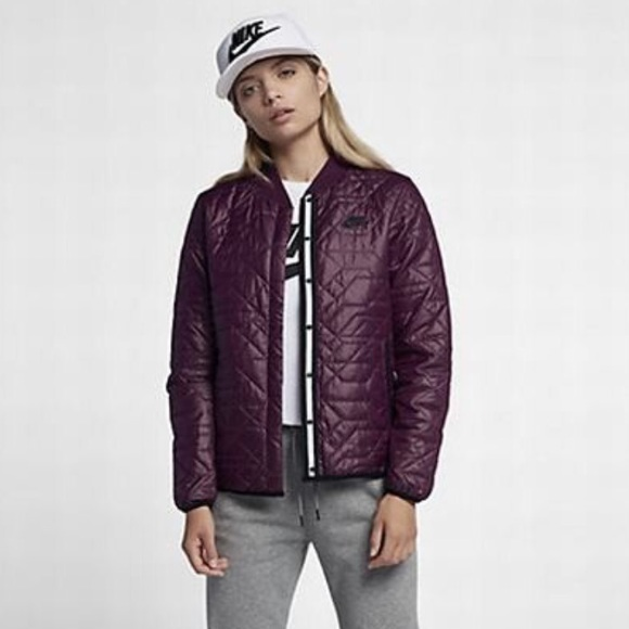 6d8b5572f941 Women s Nike Quilted Bomber Jacket